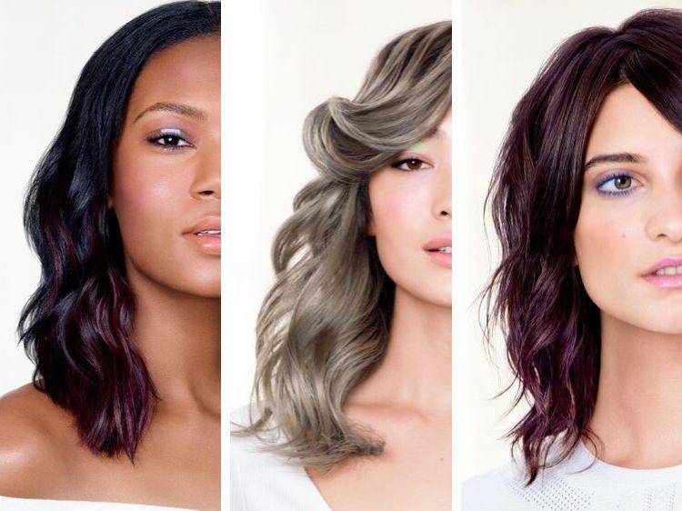 chłodny brąz, fioletowe włosy, brązowe włosy