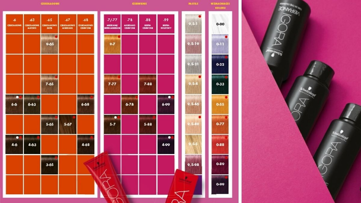kolory igora vibrance, paleta igora vibrance, paleta schwarzkopf