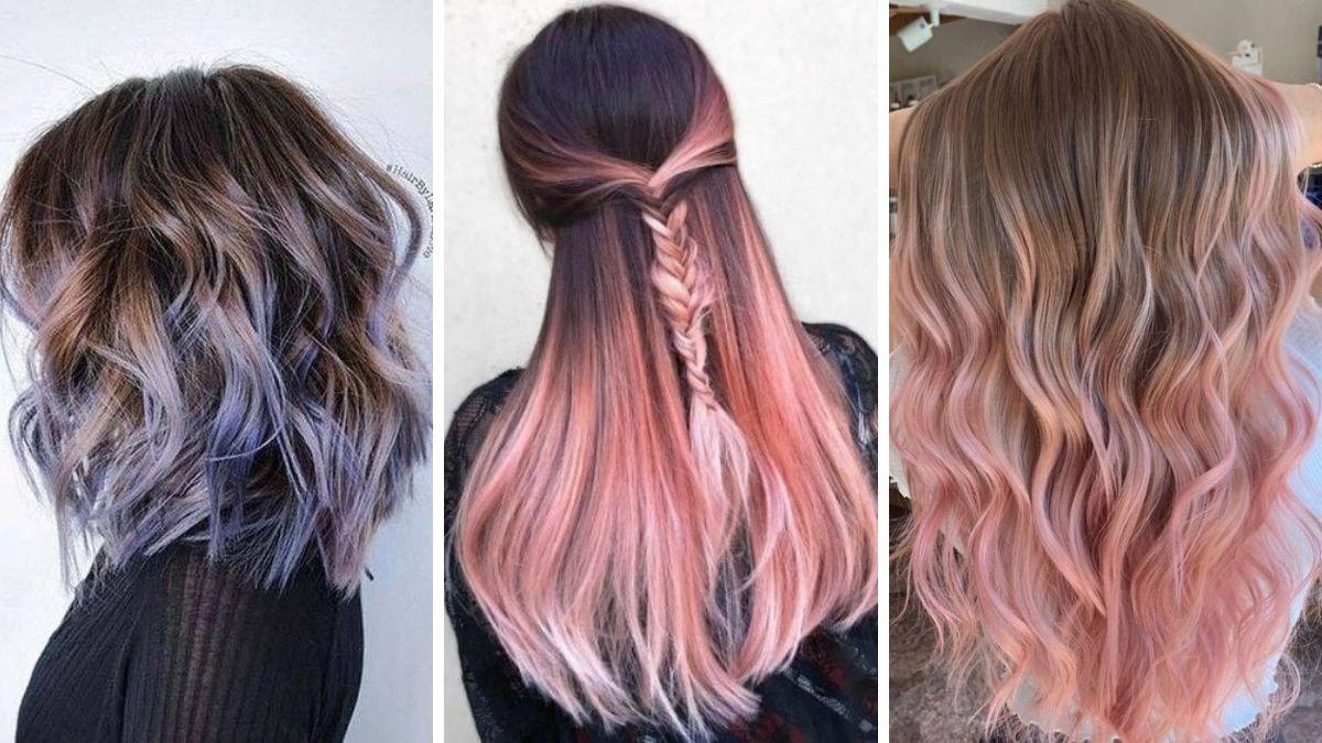 kolorwe ombre, ombre kolorowe włosy, ombre jasne włosy