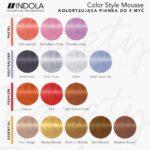 indola color style mousse, paleta indola color style mousse