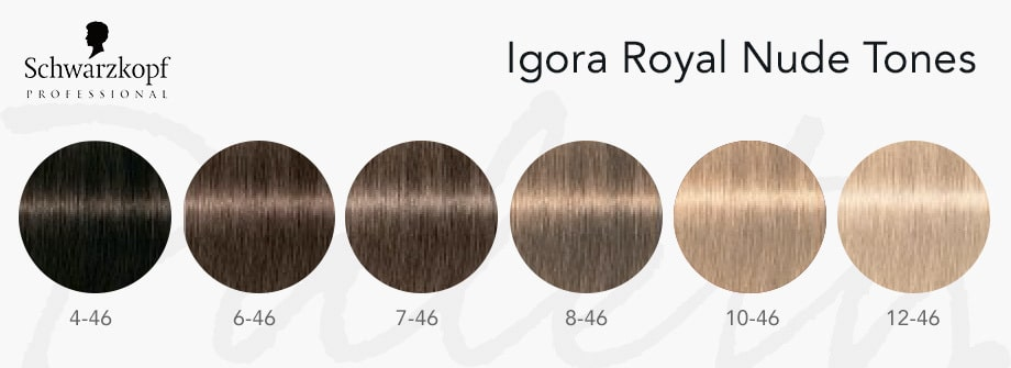 igora royal nude tones, paleta igora royal